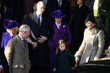 Weihnachten bei den Windsors: Herzogin Kate, Prinz Charles, Camilla und Prinzessin Charlotte