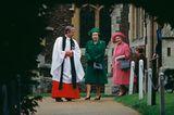 Weihnachten bei den Windsors: Königin Elisabeth mit Queen Mum und Pfarrer