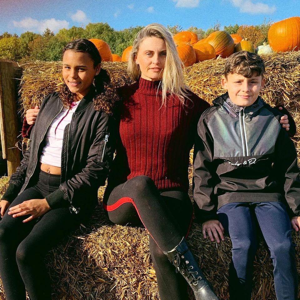 Weihnachten: Carla Bellucci mit ihren Kindern