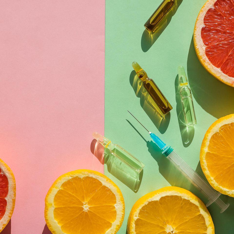 Vitalstoff-Infusion: Obst und Vitamine