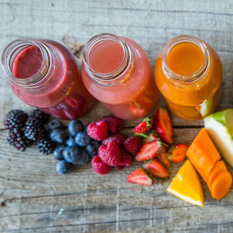 Lebensmittelfarbe selber machen: Gemüsesäfte
