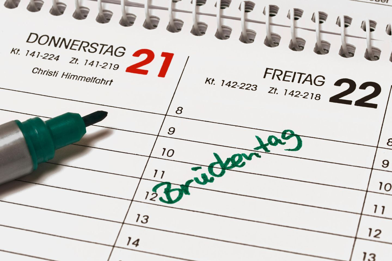 Brückentage 2021: Kalender