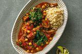 Auberginen-Curry mit Basmati-Reis