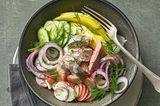 Matjessalat mit Mango und Wasabi