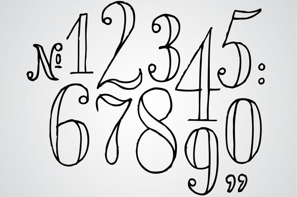Handlettering Zahlen