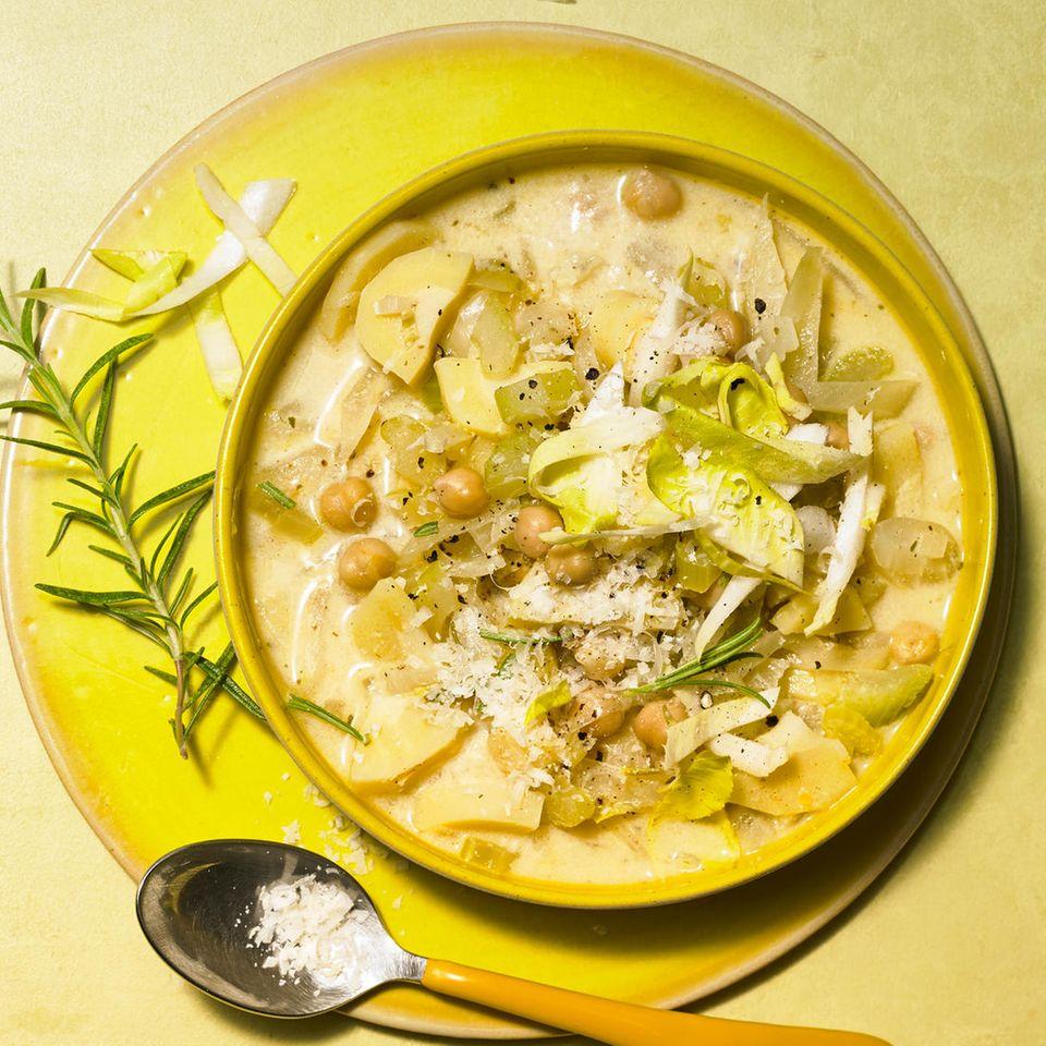 Parmesan-Chicorée-Zuppa