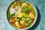 Tilapia-Fisch-Stew mit Wirsing