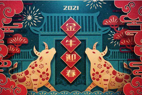 Der Büffel ist das zweite chinesische Sternzeichen