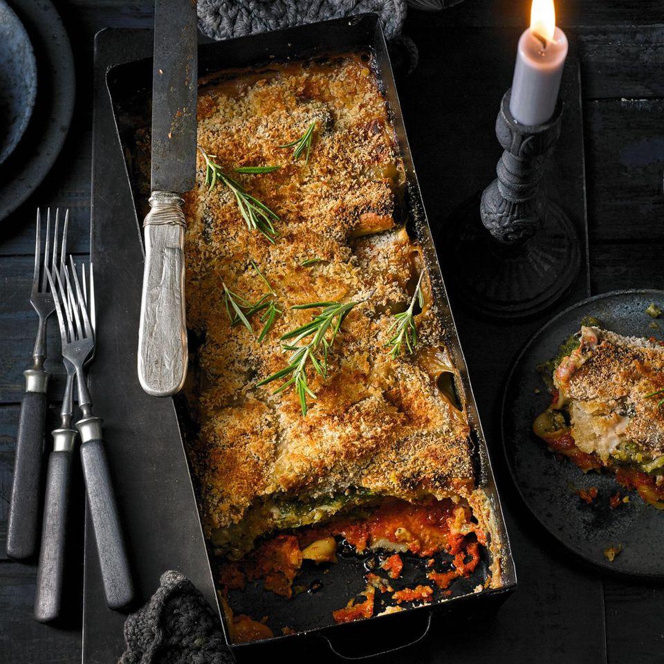 Kürbis-Mangold-Cannelloni