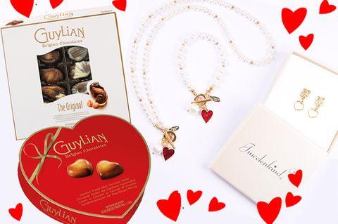 Gewinnspiel: Feiere Valentinstag mit Juwelenkind Schmuck und Guylian Pralinen