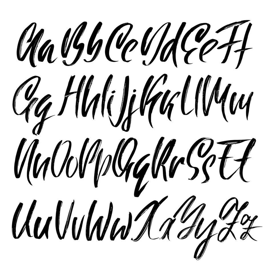 Brush Lettering: Schrift