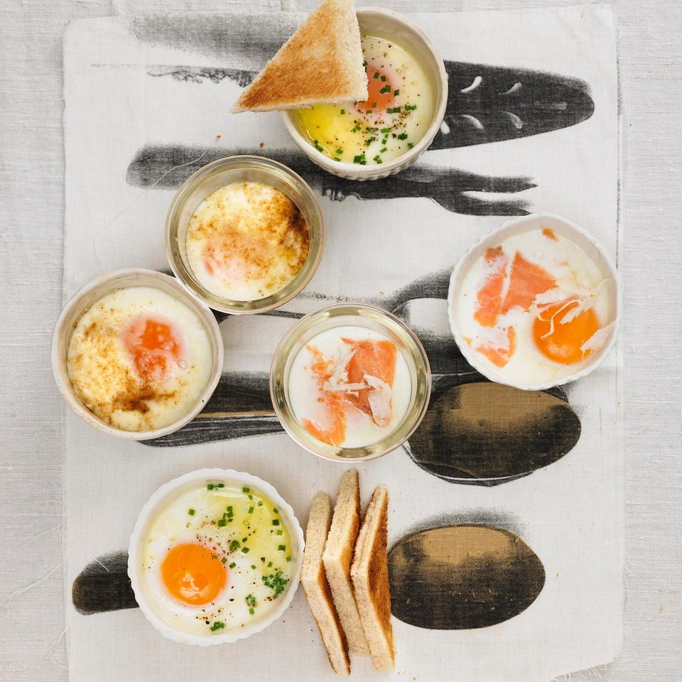 Eier im Töpfchen - in drei Varianten