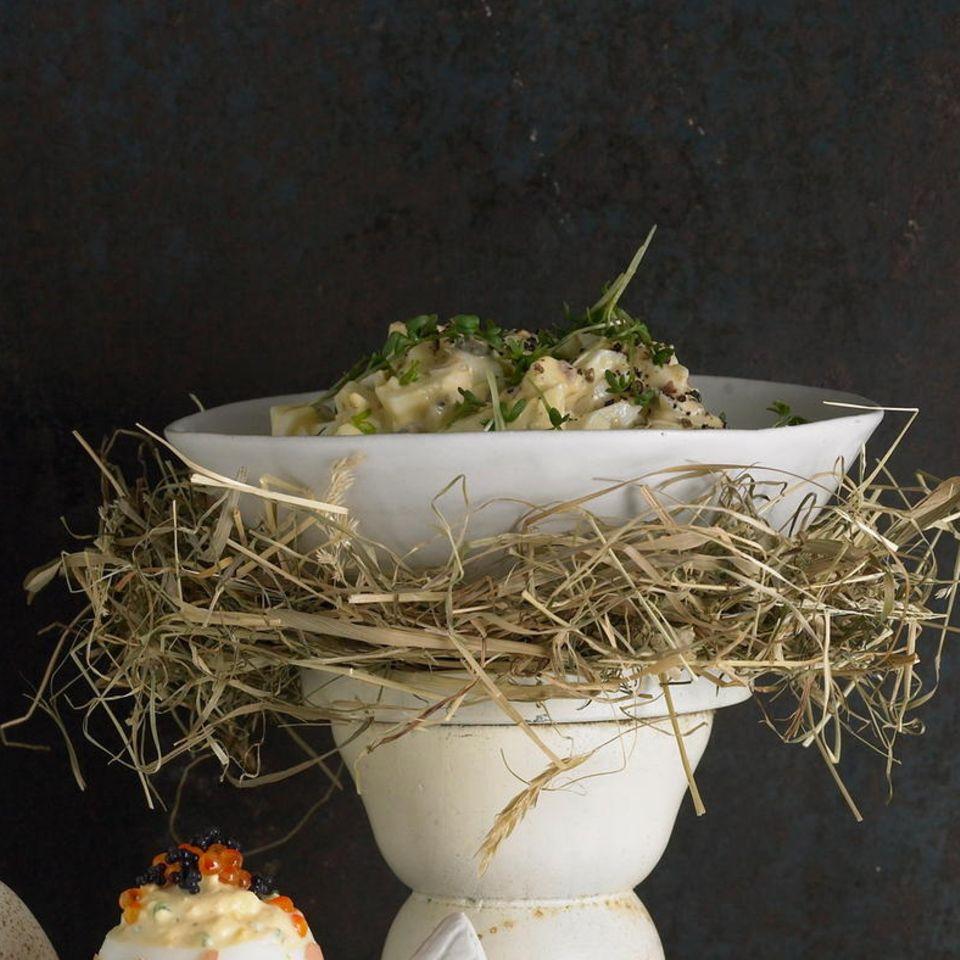 Eiersalat mit Sardellen und Kresse