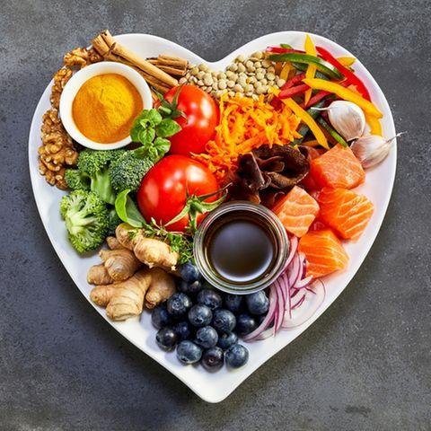Diät Special: Teller mit Gemüse