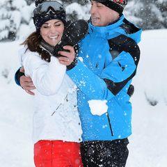 Herzogin Kate + Prinz William: im Schnee