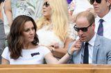 Herzogin Kate + Prinz William: auf der Tribühne