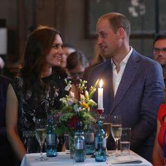 Herzogin Kate + Prinz William: am Tisch