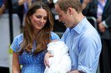 Herzogin Kate + Prinz William: mit Prinz George