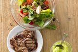 Salatteller mit Kalbssteak