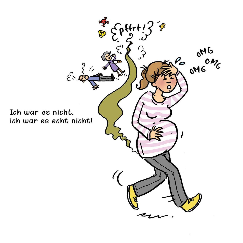 Mütter Comics: Frau schwanger