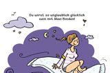 Mütter Comics: Frau auf Matratze