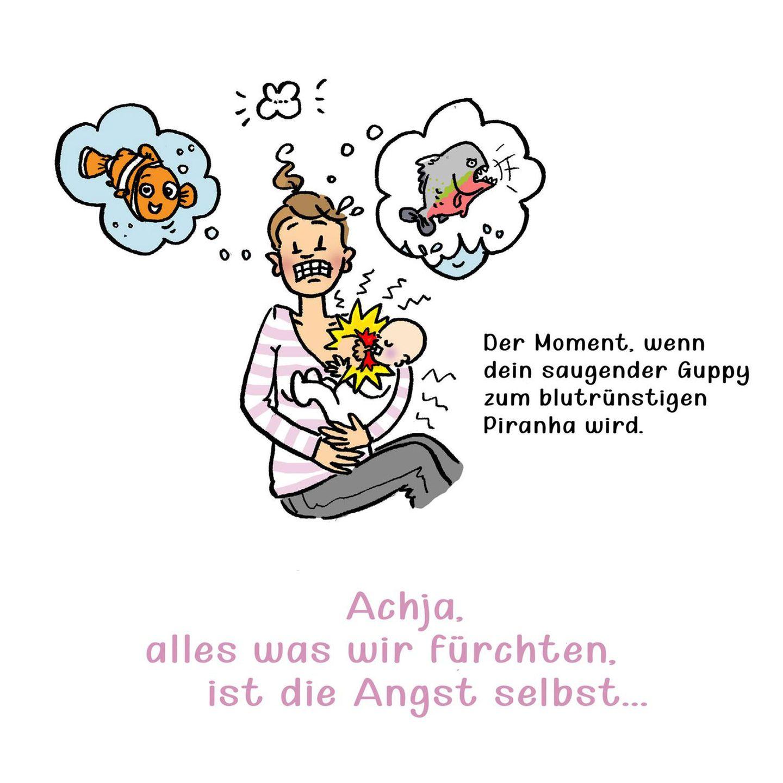 Mütter Comics: Frau stillt