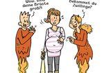 Mütter Comics: schwangere Frau