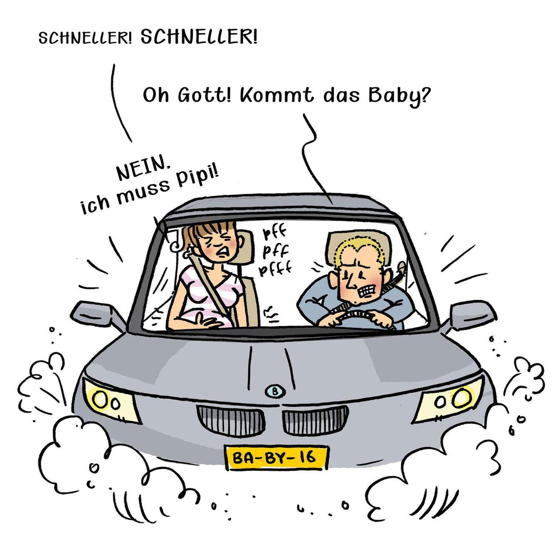 Mütter Comics:Paar im Auto