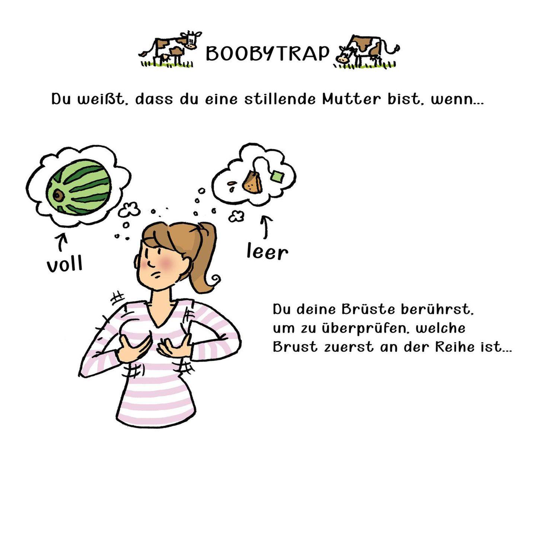 Mütter Comics: Frau prüft ihre Brüste