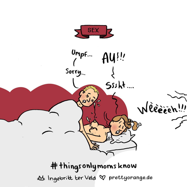 Mütter Comics: Paar im Bett