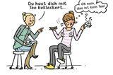Mütter Comics: Frau trinkt Tee