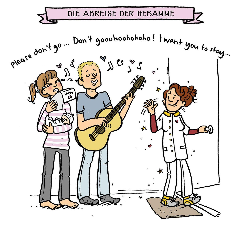 Mütter Comics: Paar mit Gitarre