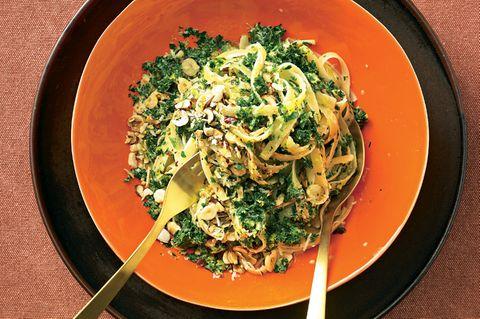 Grünkohl-Rezepte: Bavette mit Grünkohl-Rahm-Soße