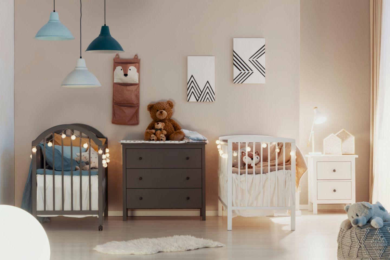 geschwisterzimmer: zwei babybetten
