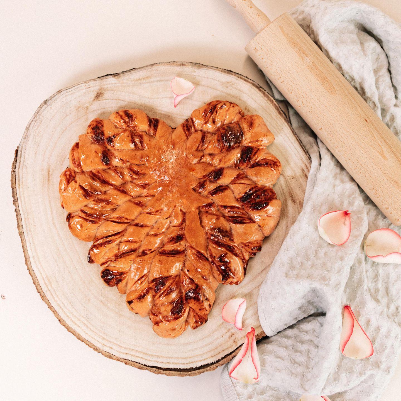Ein Kuchen in Herzforrm