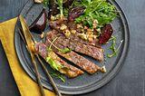 Entrecôte-Steak mit Rote-Bete-Salat