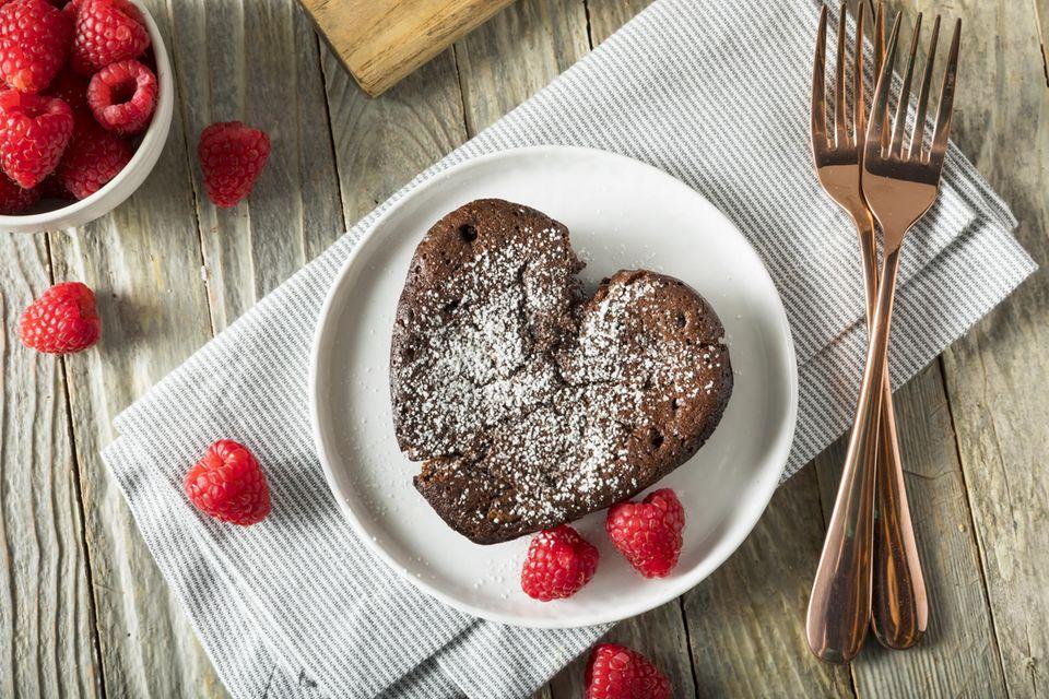 Valentinstagsgeschenke selber machen: Kuchenherz