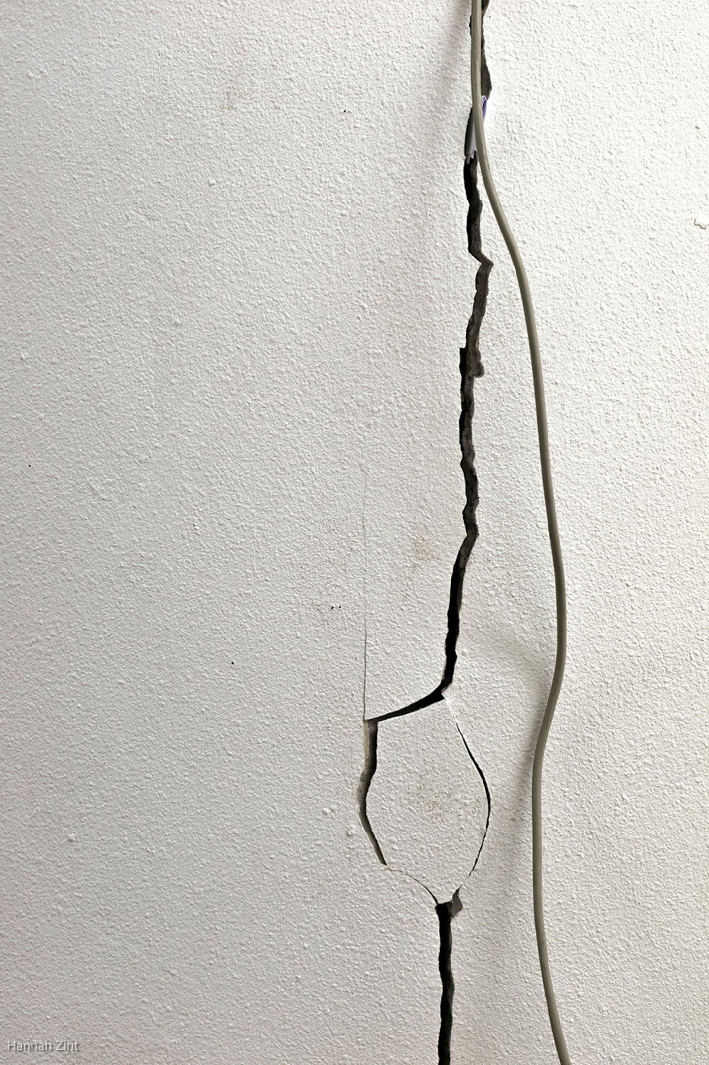 Endometriose in Bildern: Riss in der Wand