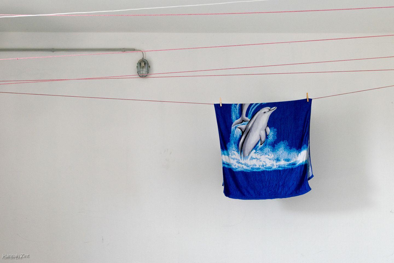 Endometriose in Bildern: Handtuch auf Leine