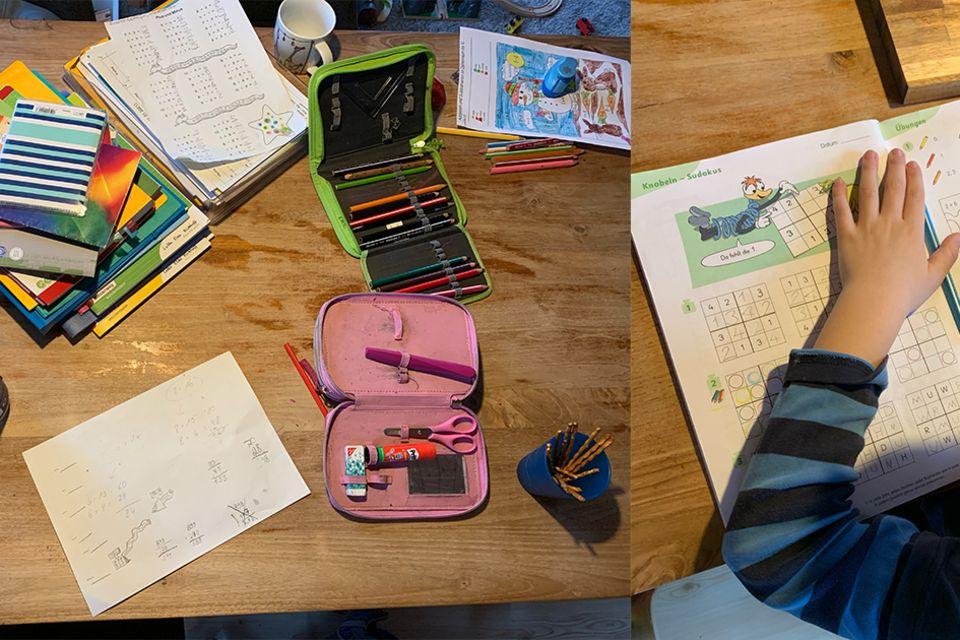 Der Wahnsinn hat einen neuen Namen: Schreibtisch mit Lernsachen