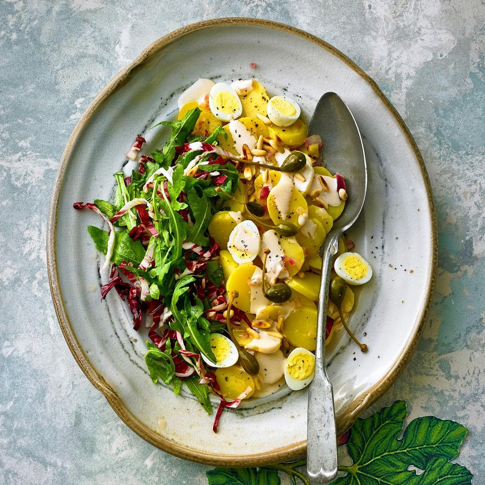 Kartoffelsalat mit Thunfisch-Soße