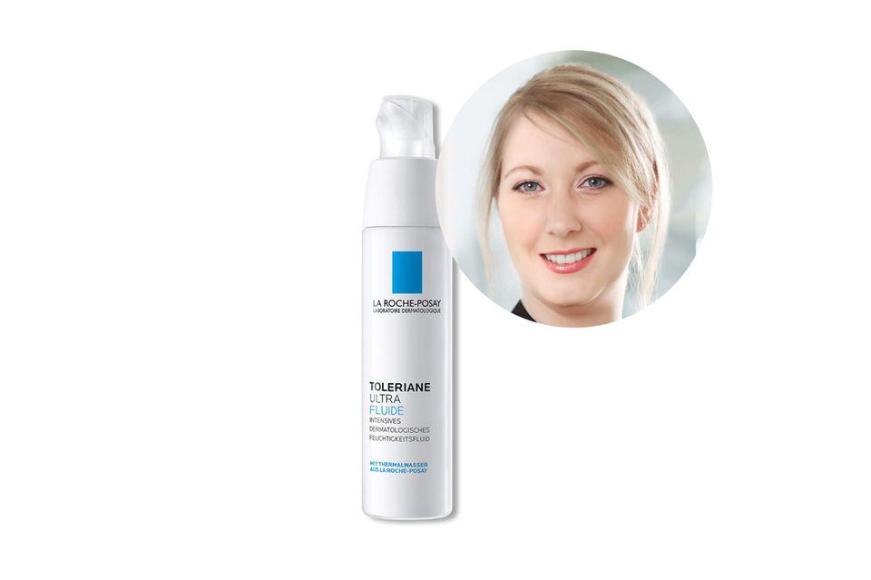 ExpertinElsa Devillechabrolle von La Roche Posay empfiehlt das Toleraine Ultra Fluide für gestresste Haut.