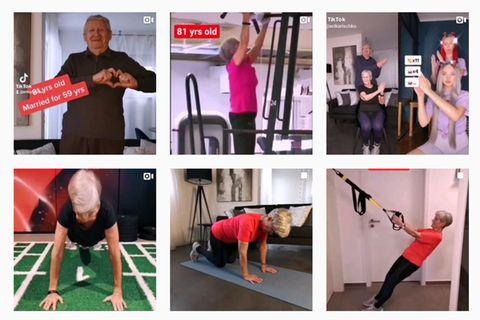 81-jährige Fitness-Influencerin