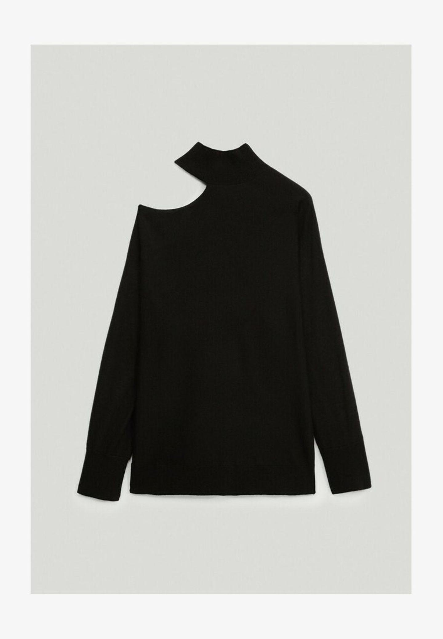 Massimo Dutti Pullover mit asymmetrischen Schultern