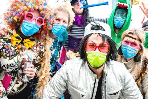 Corona aktuell: Fasching mit Maske feiern