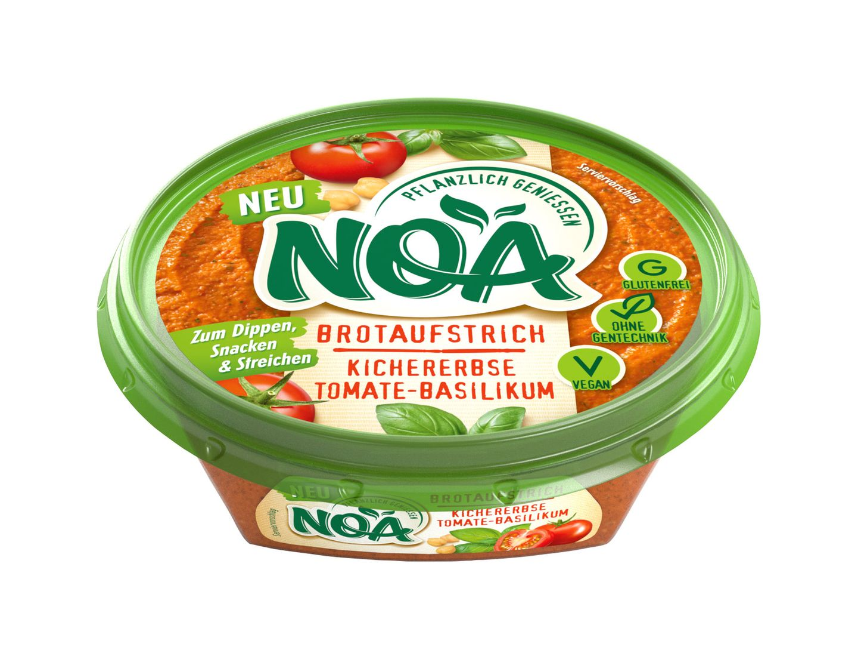 Food News: NOA Brotaufstrich Kichererbse Tomate-Basilikum
