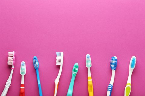 Keime auf Zahnbürsten