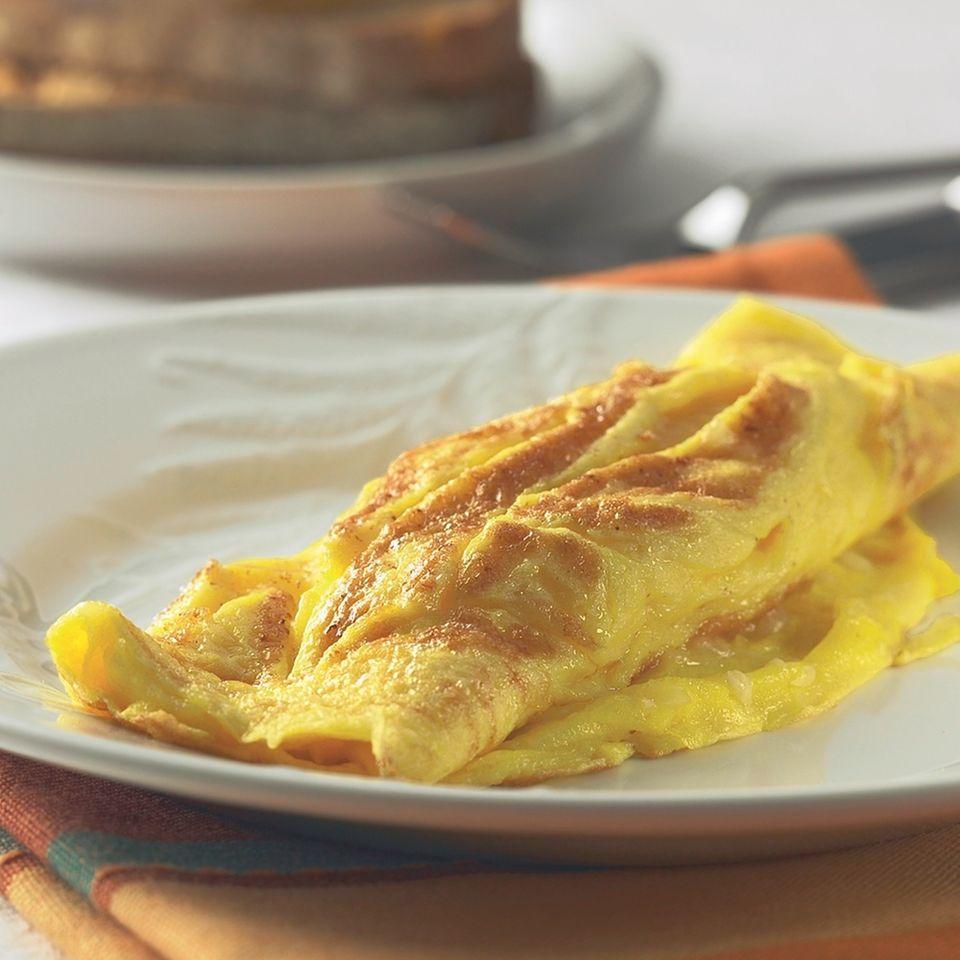 Eierspeisen: Omelett auf einem Teller