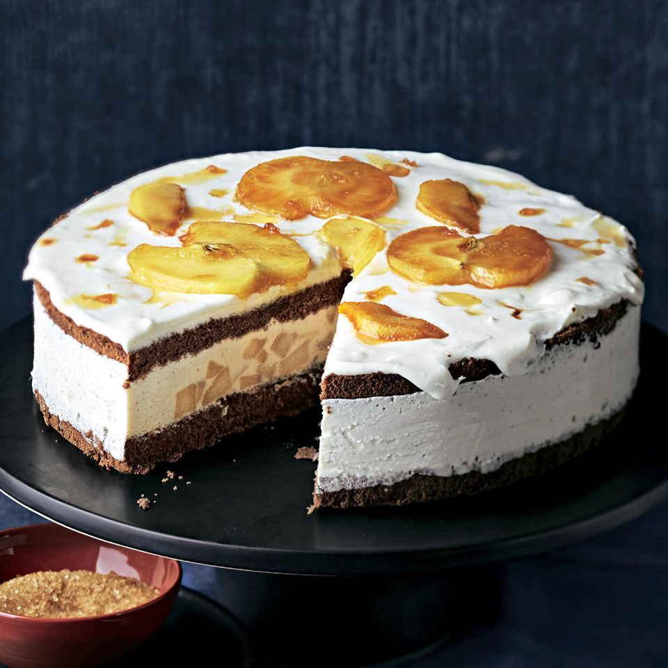 Sahnetorte: Apfel-Schoko-Torte