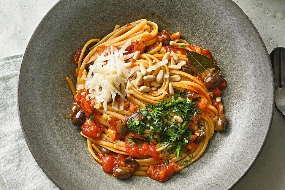 Essensplan: Pasta mit Speck